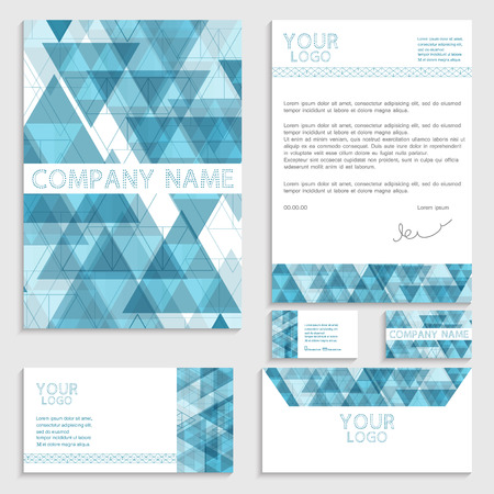 envelop: Illustration of set of business template. Brochure. Business card. Envelop