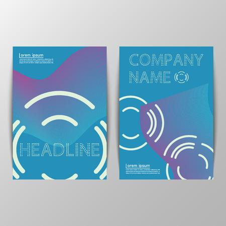 magazine design: Magazine cover design.  Vector abstract  illustration for biik cover