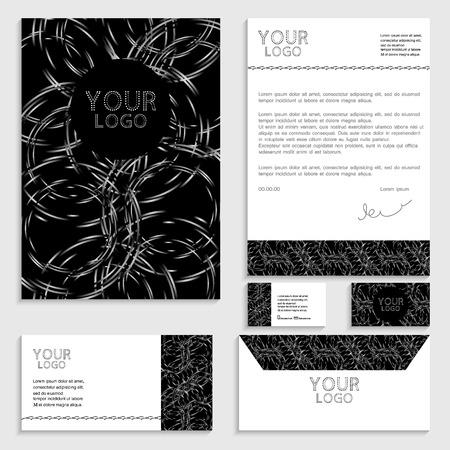 envelop: Illustration of set of business template. Brochure. Business card. Envelop. Official letter background. Illustration