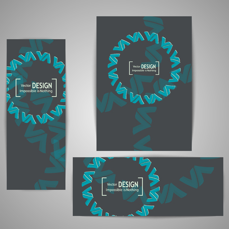 readymade: Covers with geometric shapes. Ready-made solution for your business. Illustration
