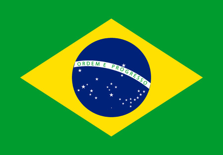 brazilian flag: Brazil flag over green background. Illustration