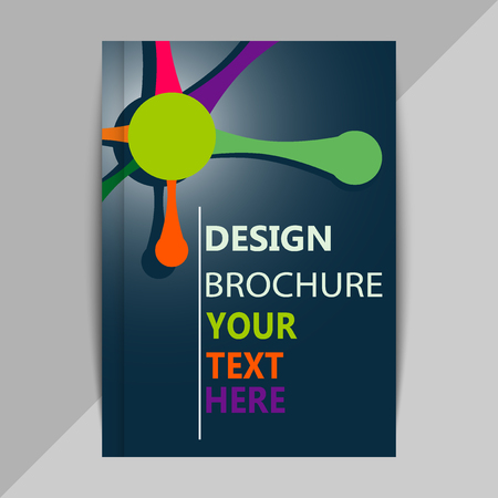 data bases: Brochure, poster design templates in DNA molecule style Illustration