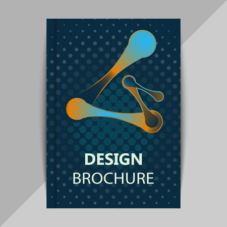 data bases: Brochure, poster design templates in DNA molecule style.