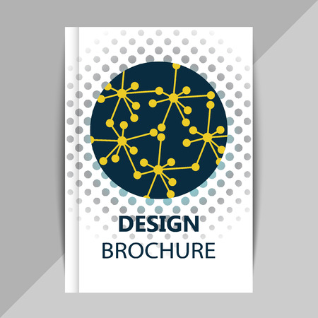 bases: Brochure, poster design templates in DNA molecule style. C