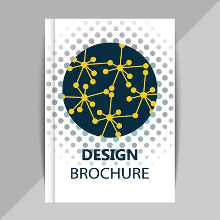 Folleto, plantillas de diseño de carteles en el estilo molécula de ADN. do Ilustración de vector