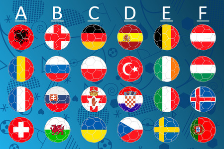 Flags of football championship.