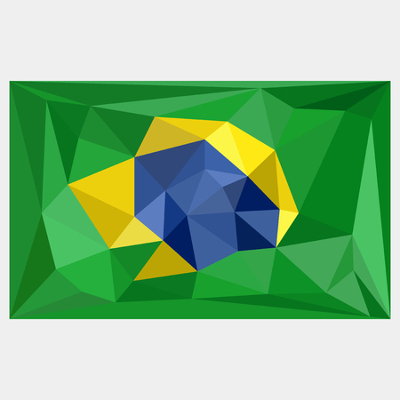 Set Of Banners In Brazil Flag Concept Isolated Vector With Lines - Federative republic of brazil map