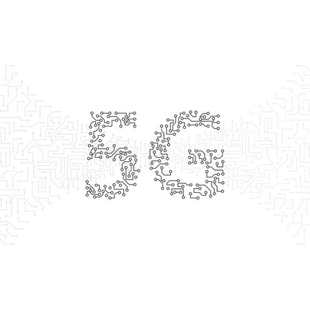 5G icon, smartphones mobile communications