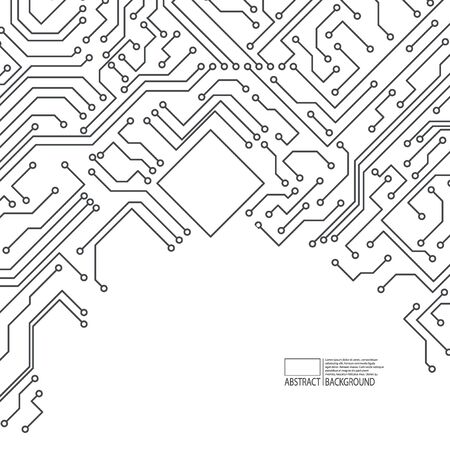 Abstract background of electronic board. Motherboard. Vector. Vecteurs