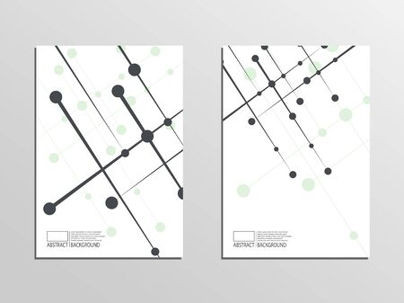 Cover for book, magazine, flyer. Communication lines vector graphics. Template A4. Vectores