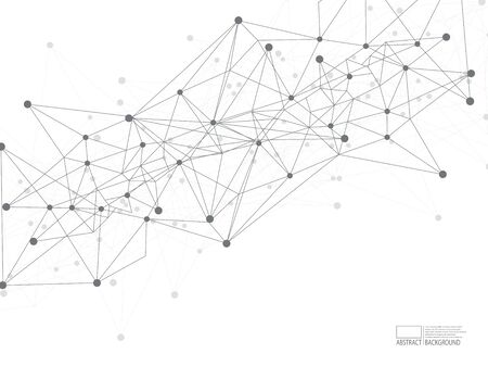 Internet connection, dot lines. Communication polygons, vector graphics