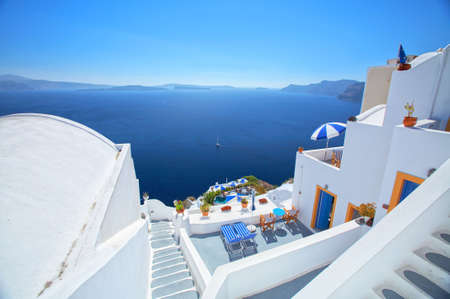 aegean sea: Blue and white