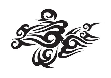 Tribal tattoo isolated on white background Stock Illustratie