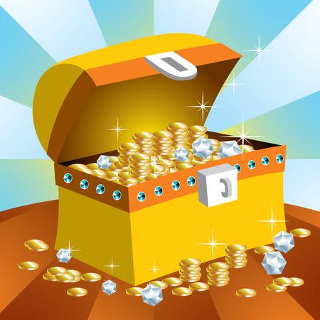 shinning: El Cofre del Tesoro Vectores