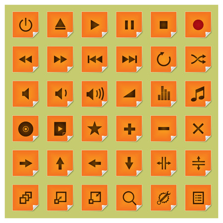 Stickee series - player icon set Vector