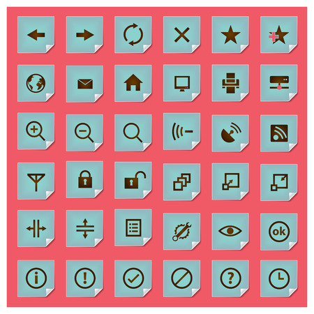 Stickee series - web icon set Vector