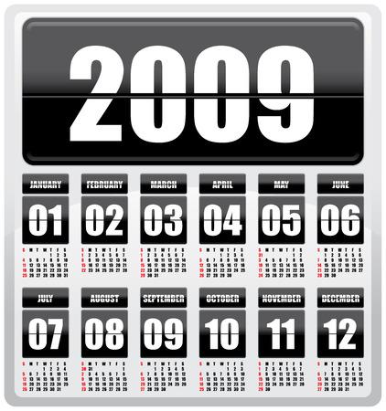 Calendar 2009 Illustration