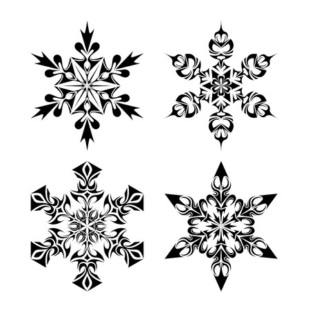 snow flakes: Tribal Snow Flakes Stock Illustratie