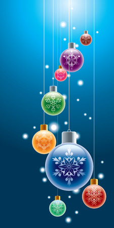 Colorful christmas ornaments. Vector