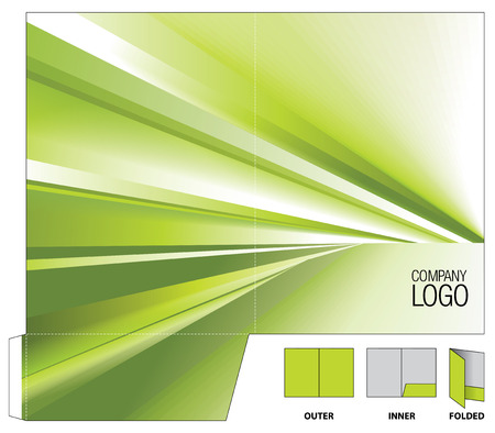 Corporate folder with die cut.