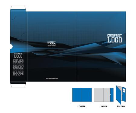 folders: Corporate folder with die cut.