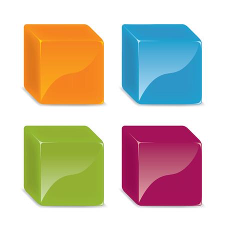 three dimensional: Three dimensional cube.