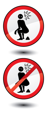 Do not shit here! Stock Vector - 3843208