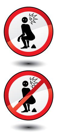 bowel: Do not shit here! Illustration