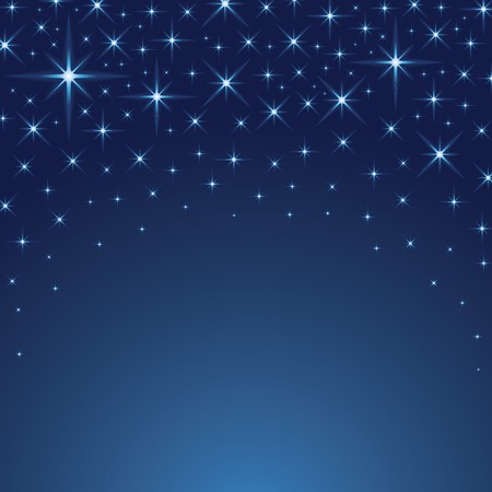 blue christmas background: Starry Background Illustration