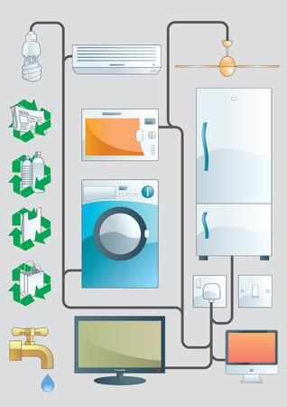 electrical appliance: Ilustraci�n de hogar