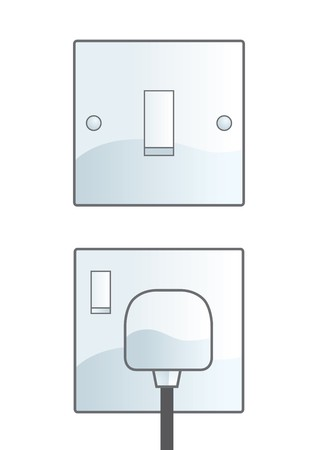 electric socket: Switch Illustration