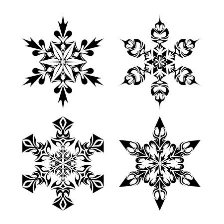 snow flakes: Tribal sneeuwvlokken