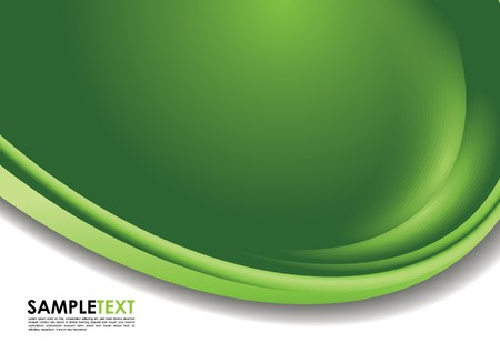 green swirl: Abstract cover design