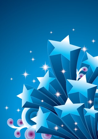 star shapes: Shooting star Illustration