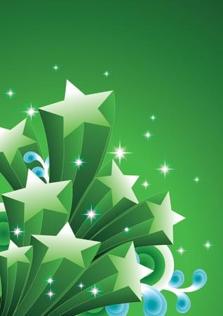 three dimensional shape: Shooting star Illustration