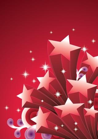 etoiles filante: Shooting star Illustration