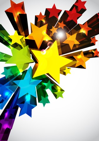 star background: Abstract Vector Background Illustration
