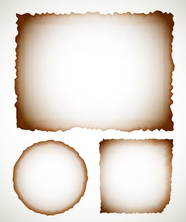 burnt paper: Vector burnt paper