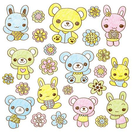 teddy bear: Main dessin� en peluche