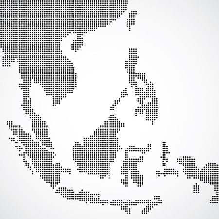 asia map: Dotted South East Asia