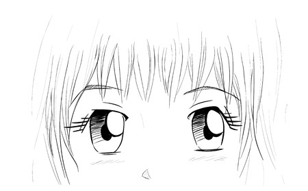 manga girl: Manga Eyes Illustration