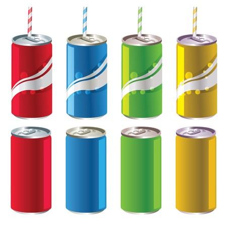 Soft Drink Cans Stock Vector - 7590466