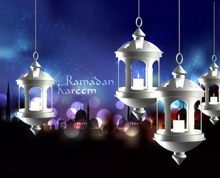 pelita: Vector 3D Muslim Oil Lamp  Translation  Ramadan Kareem - May Generosity Bless You During The Holy Month