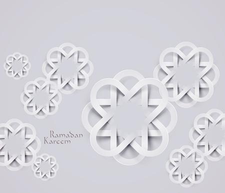 generosit�: Vector 3D Paper musulmano Grafica traduzione Ramadan Kareem - maggio Generosit� benedica voi durante il mese sacro