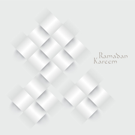 Vector 3D Paper Ketupat  Muslim Rice Dumpling   Translation  Ramadan Kareem - May Generosity Bless You During The Holy Month