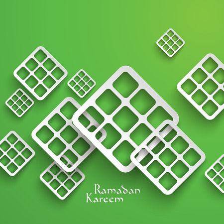 Vector 3D Paper Graphics  Translation  Ramadan Kareem - May Generosity Bless You During The Holy Month