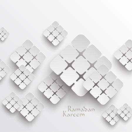 generosit�: Vector 3D Paper grafica traduzione Ramadan Kareem - maggio Generosit� benedica voi durante il mese sacro