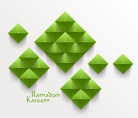 Vector 3D Folded Paper Graphics  Translation  Ramadan Kareem - May Generosity Bless You During The Holy Month