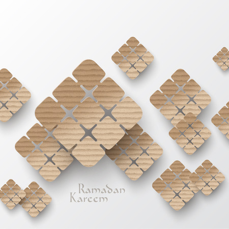 hari raya: Vector 3D Muslim Cardboard Graphics  Translation  Ramadan Kareem - May Generosity Bless You During The Holy Month