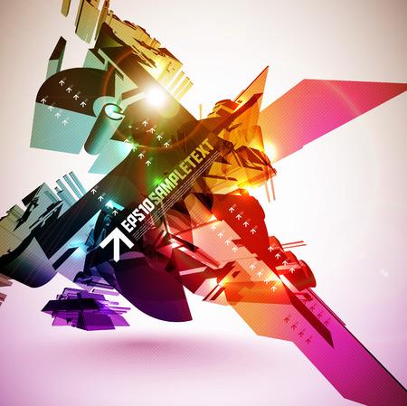 3D Vector Destructive Element